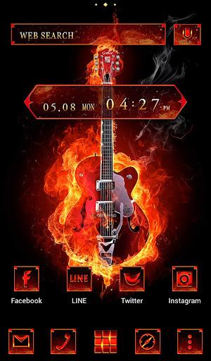 Stylish Theme Fire Guitar 1.0.0 Windows u7528 1