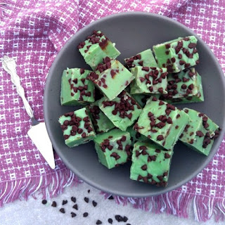 Mint Chocolate Chip Fudge.