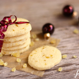 Candied Ginger Shortbread Cookies.
