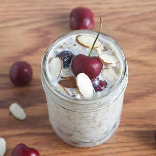 Cherry Almond Overnight Oats.