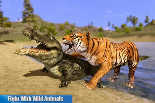 Angry Tiger Family Sim City Attack 1.0 screenshots 1