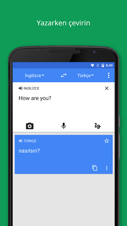 Google Çeviri- ekran görüntüsü