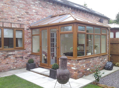 Conservatory with Glass Patio Door