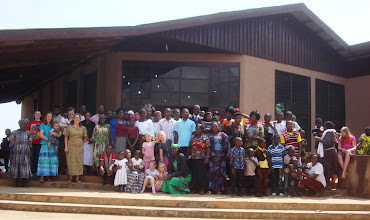 """Photo: This picture was taken at the """"send off"""" service for Pastor Ernest and his family just days before they moved to Nigeria as church planting missionaries."""