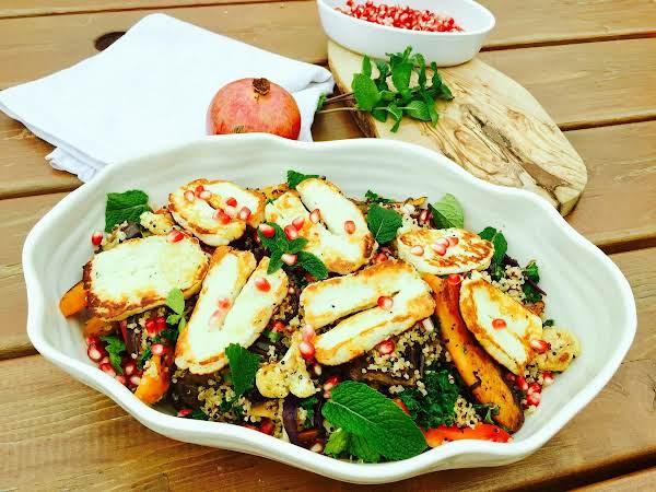 Quinoa, Roast Vegetables, Halloumi Cheese Zaatar Recipe