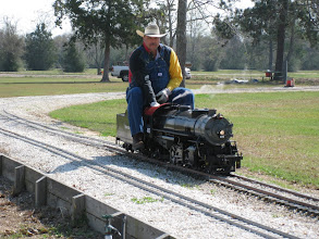 Photo: Vance Nickerson with his 2-8-2.   HALS 2009-0228