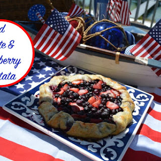 Holidays, Flag Day Red White and Blueberry Crostata