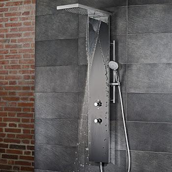 shower_Duschpaneel Lavida Plus schwarz