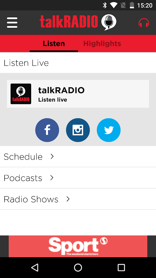 talkRADIO- screenshot