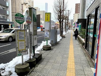 商工中金前バス停(右まわり)