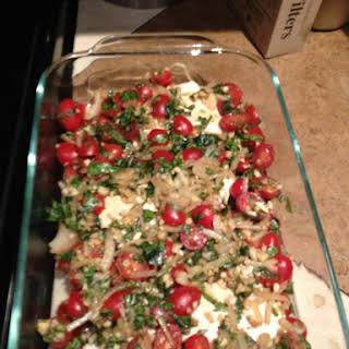 Balsamic Vinegar Chicken with Fresh Tomatoes.