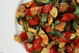 Roasted Zucchini & Tomatoes