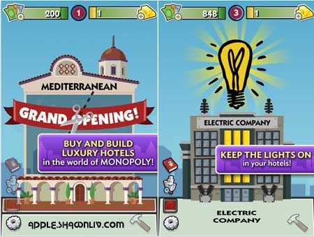 iTunes Apple: MONOPOLY Hotels App