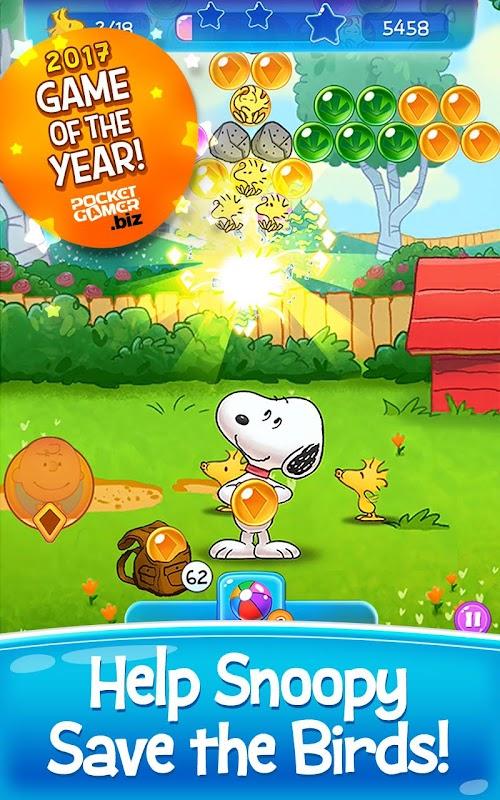 Screenshot 1 Snoopy Pop - Free Match, Blast & Pop Bubble Game 1.29.602 APK MOD