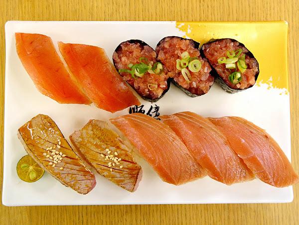 一個人的平價握壽司晚餐順億生魚片