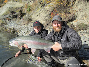 Photo: Kids of Girdwood, Alaska at their finest... This kid shreds in the winter time and hook sets like a champion in the fall time. 11 years old.... landing a big Kenai river rainbow trout like he has been doing it for years.