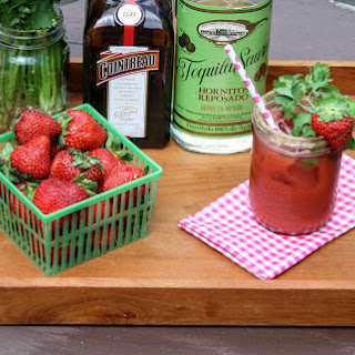Strawberry Cilantro Margarita