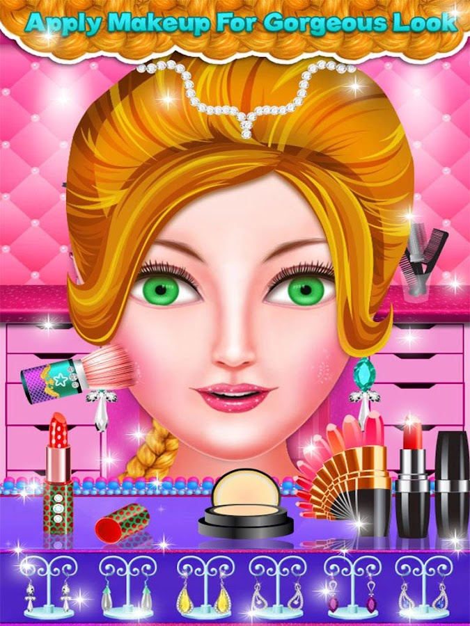 Hairstyles Games angelinas beauty salon spa dress up makeup manicure hair care game android ios gameplay youtube Braided Hairstyles Girls Games Screenshot