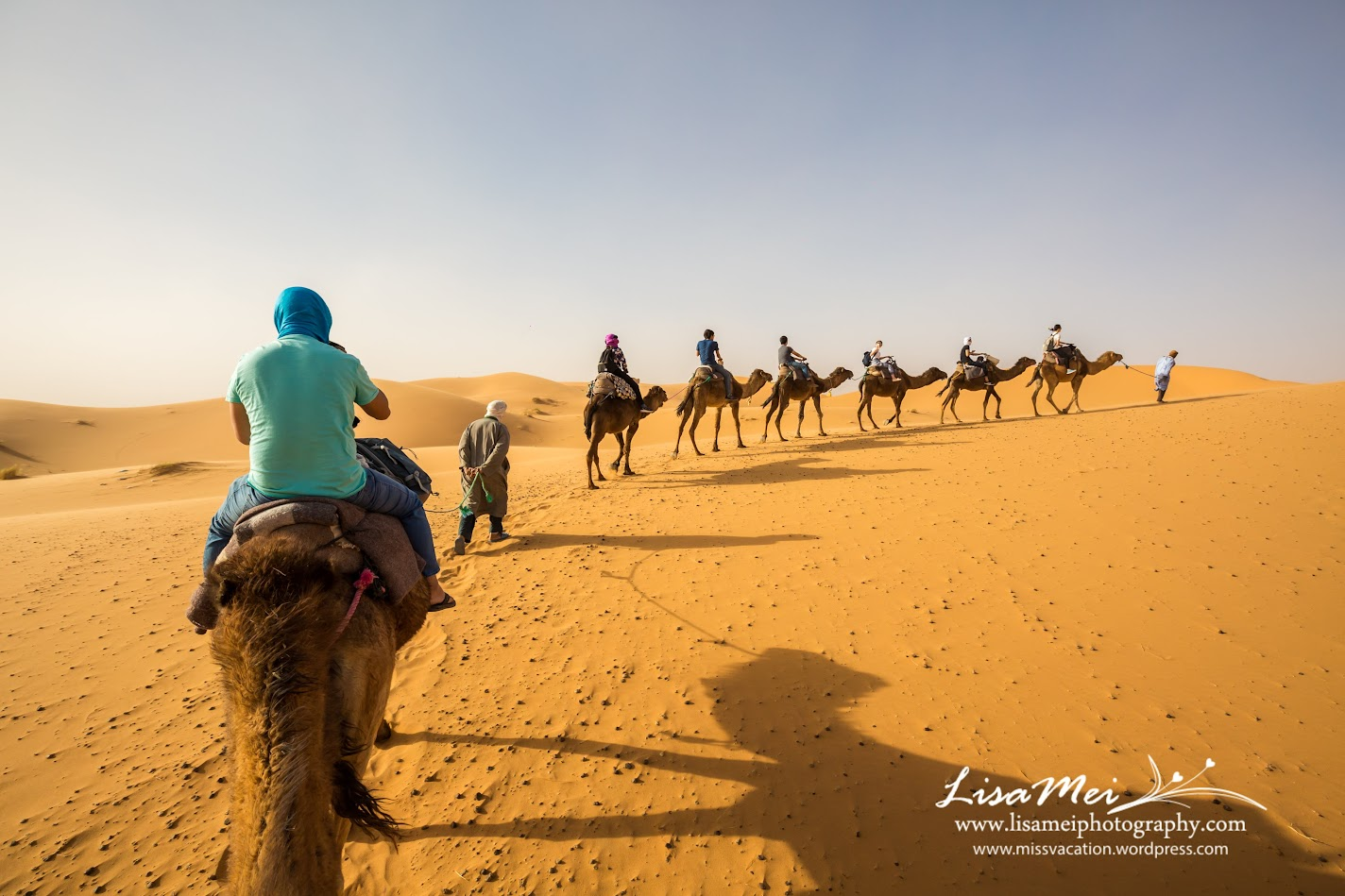 He even stopped the camels and helped us to take photos of our group, how  wonderful!
