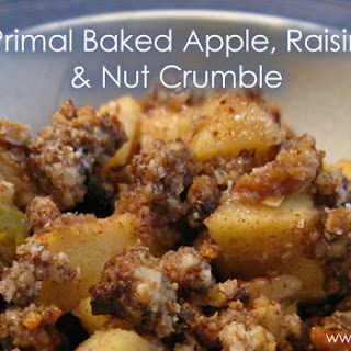 Primal Baked Apple, Raisin and Nut Crumble.