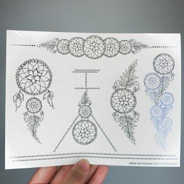 捕夢網紋身貼紙 Dreamcatcher Temporary Tattoo 碌落啲有更多紙品選擇!!