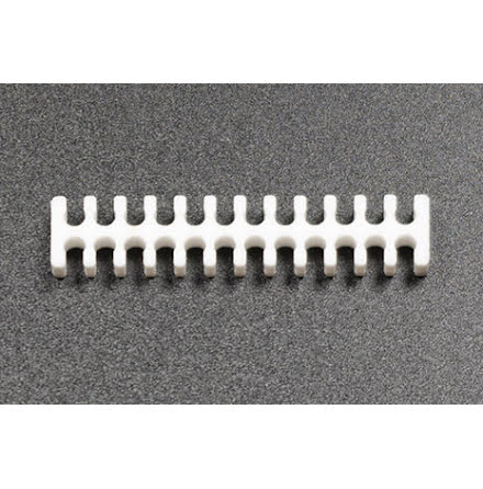 Kabelkam for 24 pins kabel, 2x12 Ø4mm spor, hvit