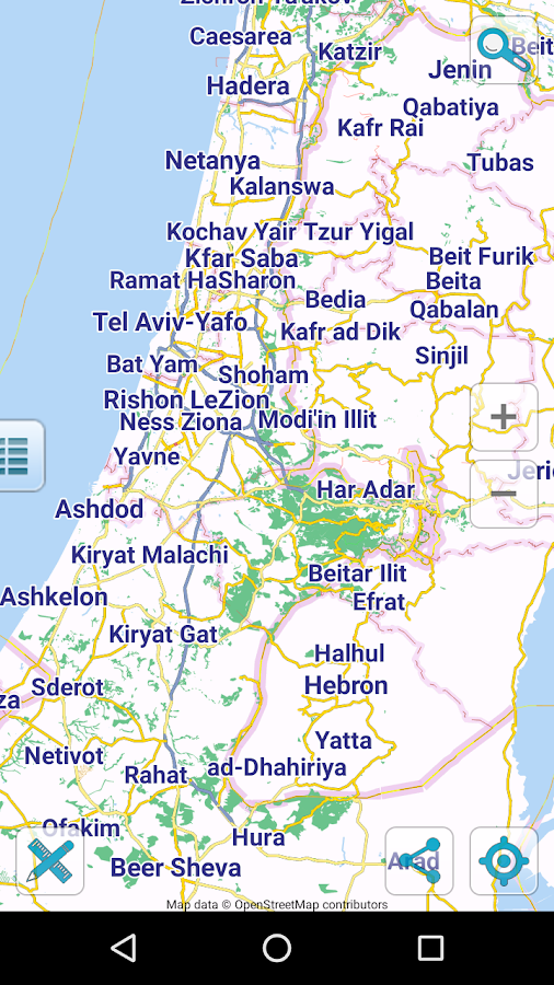 Map Of Israel And Palestine Android Apps On Google Play - Israel maps