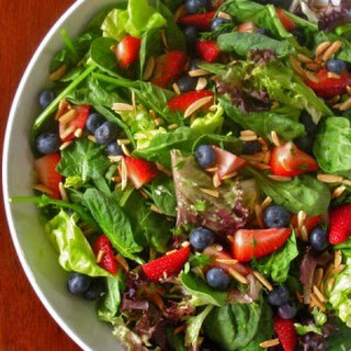 Spinach and Berries Salad with Dill, Phyllis Keating