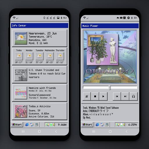 W95 Mobile Retro Klwp Theme