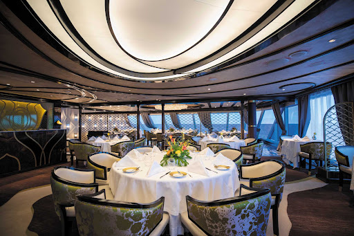 Chartreuse on Seven Seas Splendor evokes memories of a chic Parisian fine dining restaurant discovered during an evening stroll.