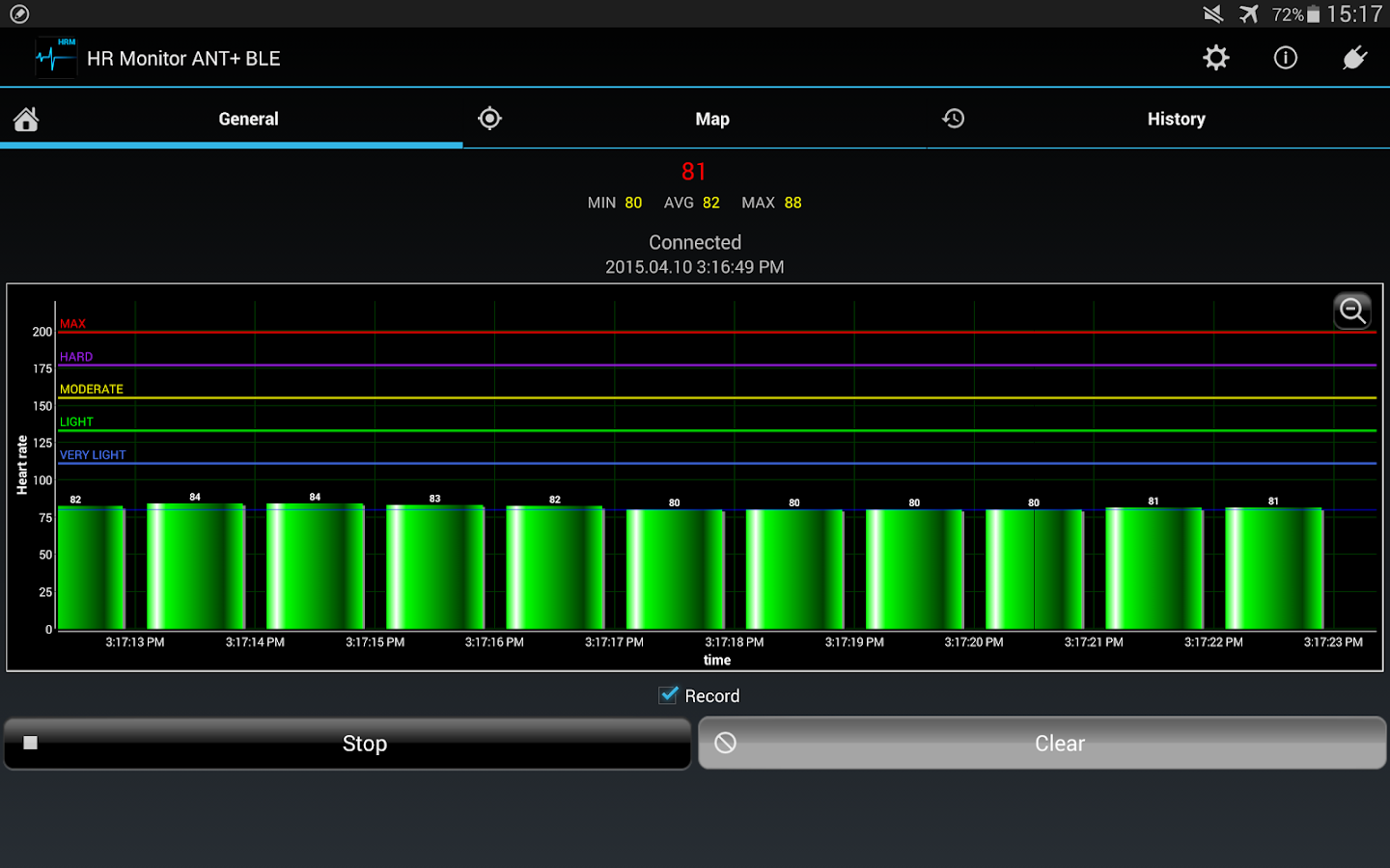Heart Rate Monitor ANT+ BLE- screenshot