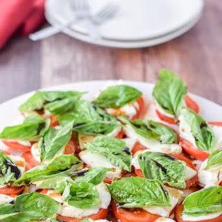 Scrumptious and Simple Caprese Salad.