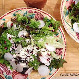 Turnip and Pomegranate Winter Salad.