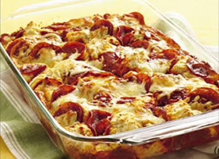 4-Ingredient Pizza Bake Recipe