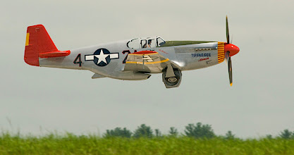 "Photo: North American P-51C Mustang ""Tuskegee Airman"" delivered to the USAAC in 1944."