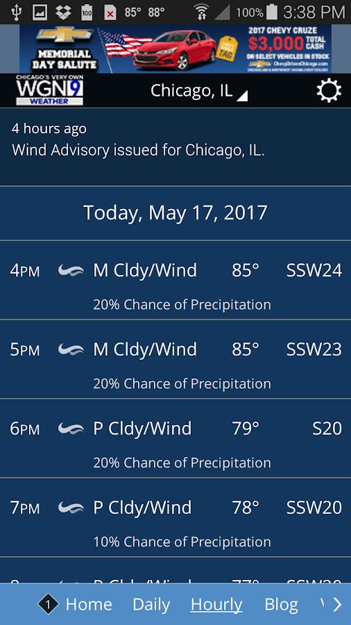 WGN Weather- screenshot