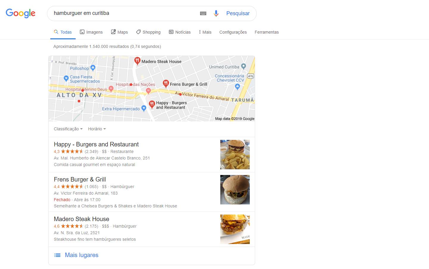 imagem do google my business