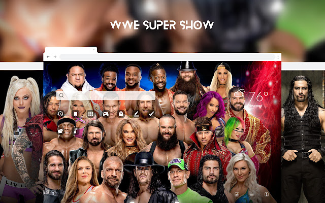 WWE Super Show HD Wallpapers New Tab