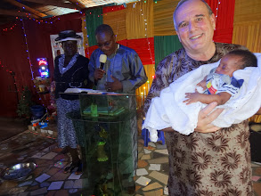 Photo: I was blessed and privileged to dedicated this first born son unto the Lord at this service.