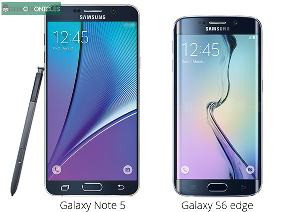 note 5 galaxy s6 side by side