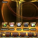 GOLD Go Launcher EX theme icon