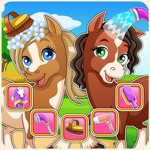 Horse makeover hair salon Icon