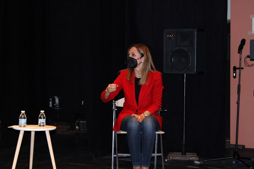 Maribel Sánchez, delegada de Gobierno, durante su intervención.
