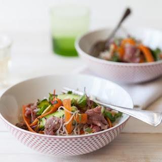 Asian Noodle Steak Salad.