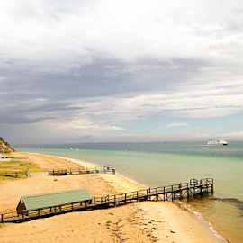 Sorrento Beach by Steven De Siow - Landscapes Beaches ( seascape, beach, sea view, scenery, landscape,  )