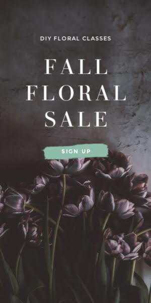 Fall Floral Sale - Half Page Ad Template