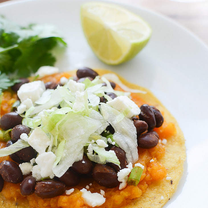 Butternut Squash and Black Bean Tostadas Recipe | Yummly