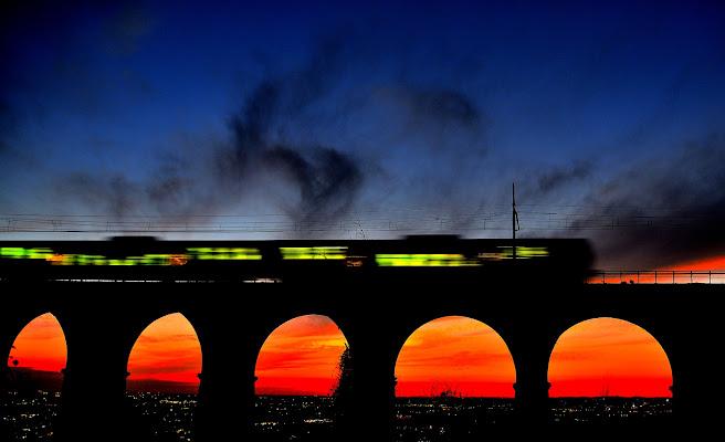 Treno al tramonto di Alduccio