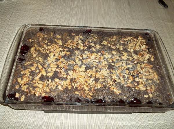 Cherry Dump Cake With Walnuts