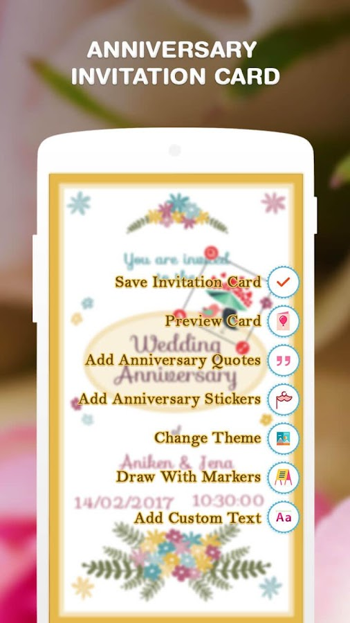 Anniversary Invitation Card Android Apps on Google Play – Invitation Card Anniversary